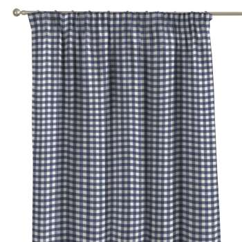 Pencil pleat curtains 130 x 260 cm (51 x 102 inch) in collection Quadro, fabric: 136-01