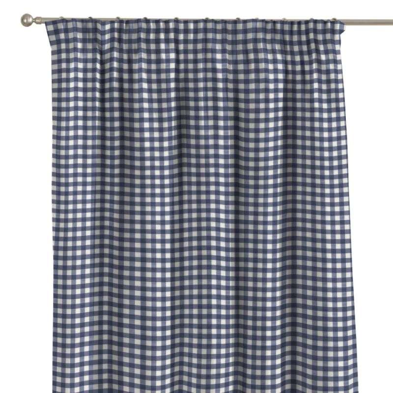 Vorhang mit Kräuselband von der Kollektion Quadro, Stoff: 136-01