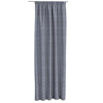Gardin med rynkebånd 1 stk. 130 × 260 cm fra kolleksjonen Quadro, Stoffets bredde: 136-01
