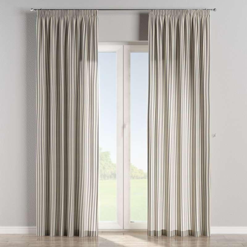 Függöny ráncolóval a kollekcióból Quadro Lakástextil, Dekoranyag: 136-02