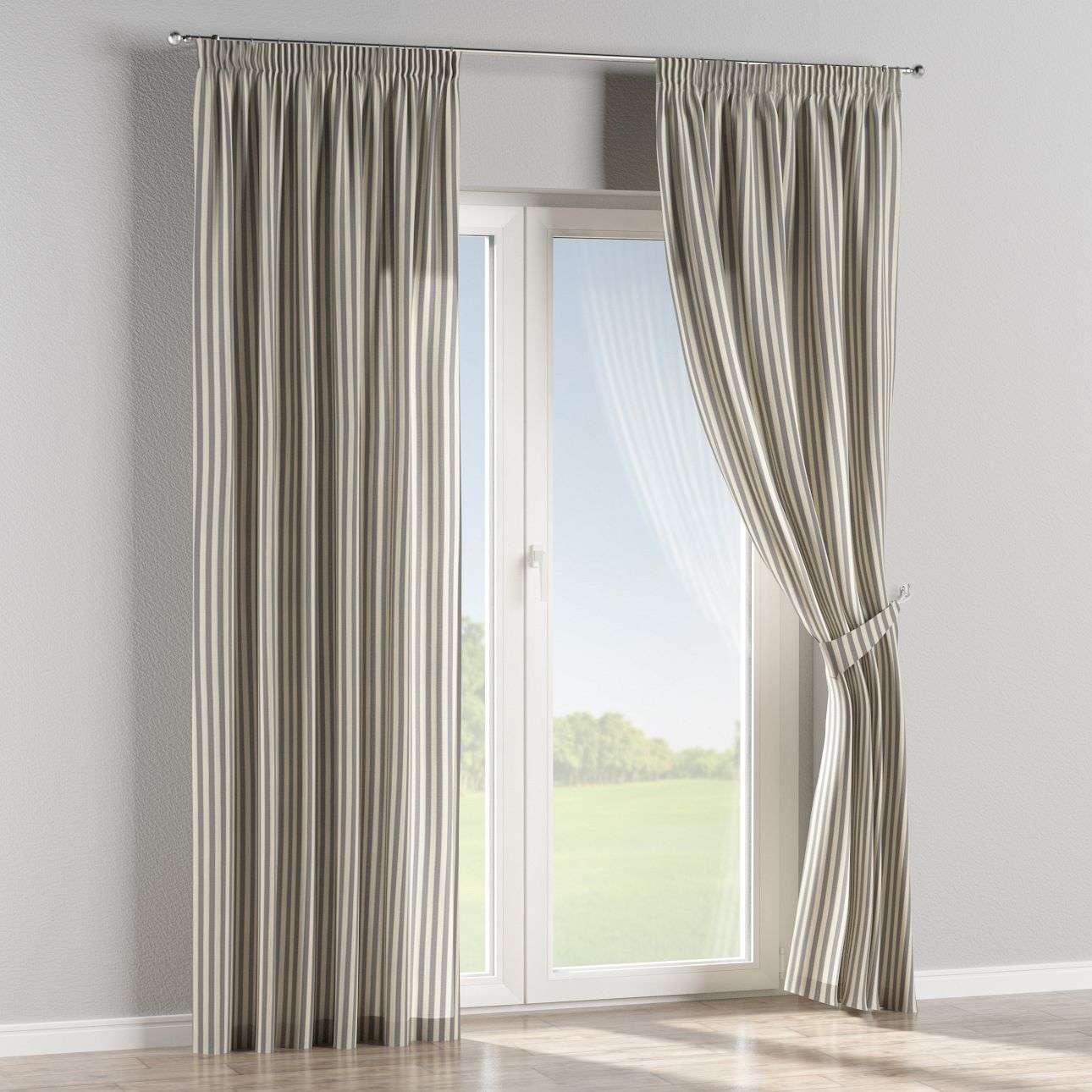 Pencil pleat curtains 130 x 260 cm (51 x 102 inch) in collection Quadro, fabric: 136-02