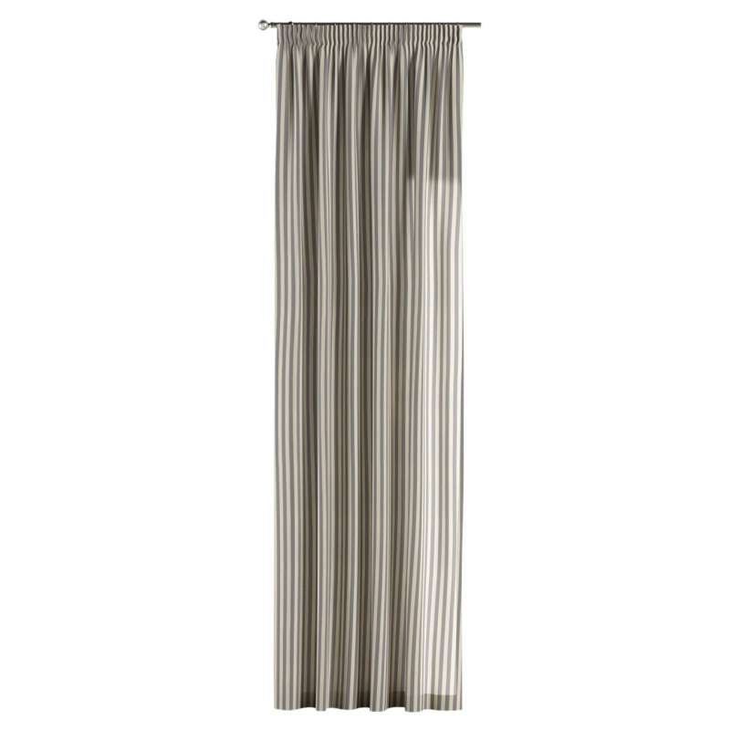 Pencil pleat curtain in collection Quadro, fabric: 136-02