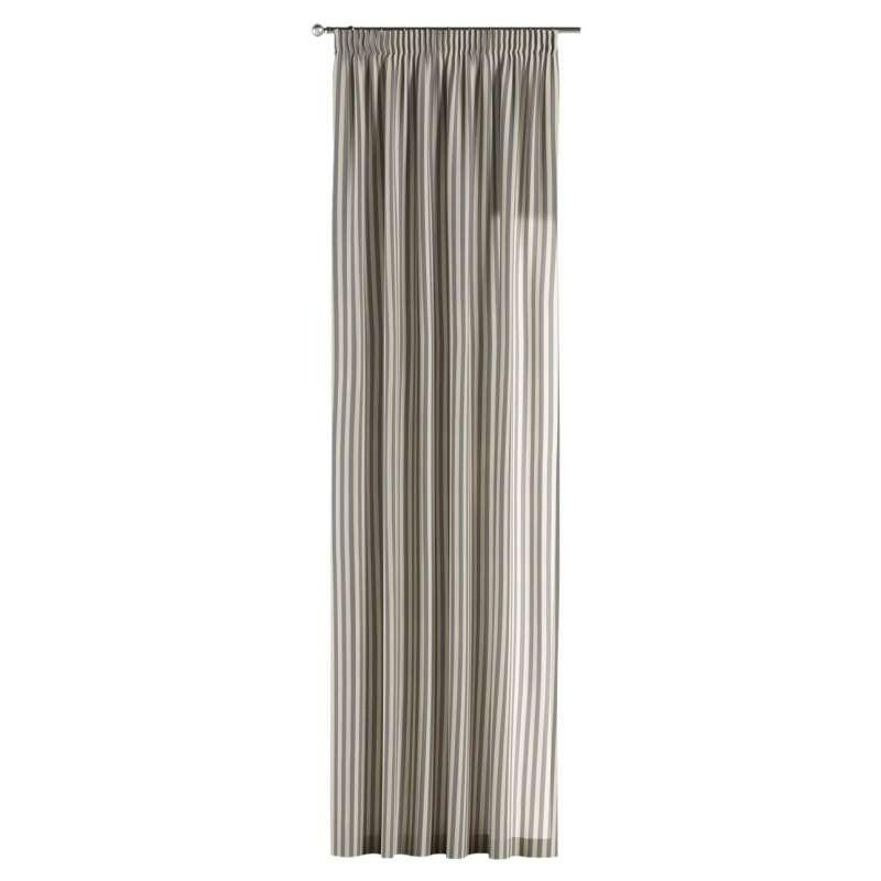 Vorhang mit Kräuselband von der Kollektion Quadro, Stoff: 136-02