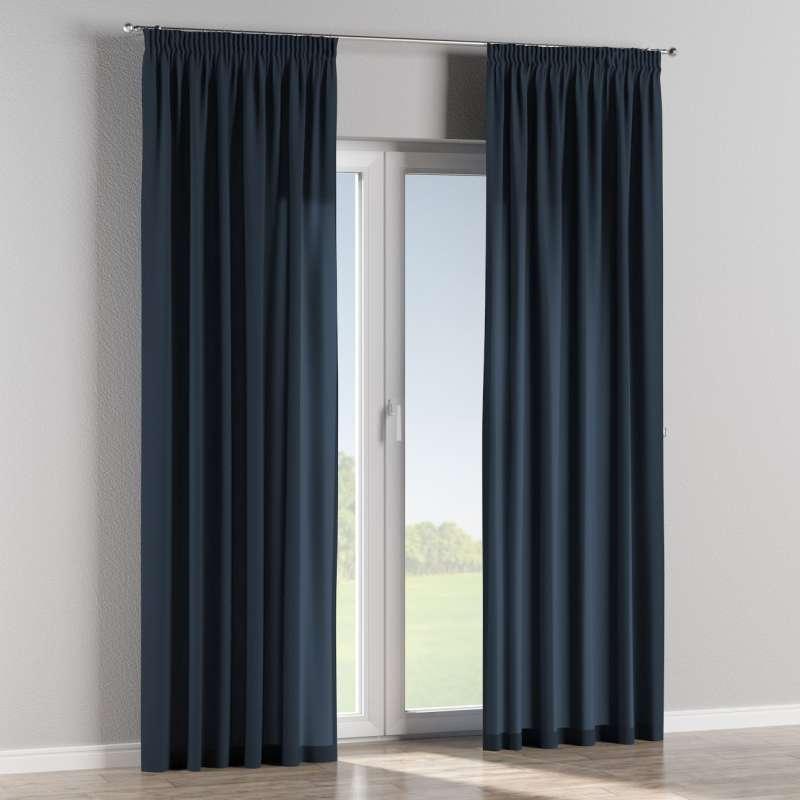 Pencil pleat curtain in collection Quadro, fabric: 136-04