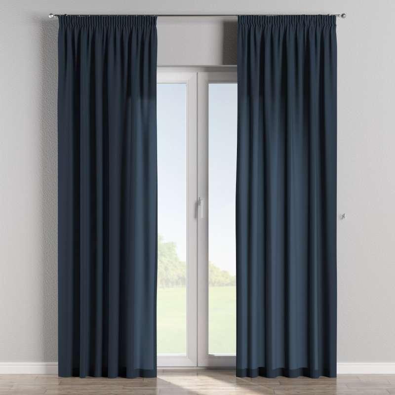 Vorhang mit Kräuselband von der Kollektion Quadro, Stoff: 136-04