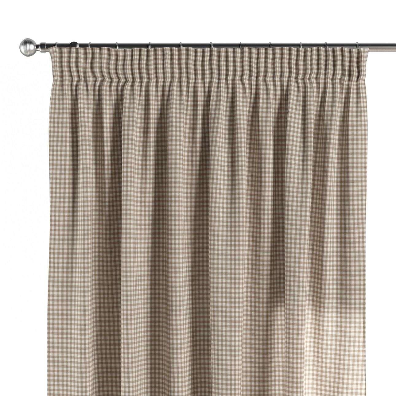 Vorhang mit Kräuselband 1 Stck. 130 x 260 cm von der Kollektion Quadro, Stoff: 136-05
