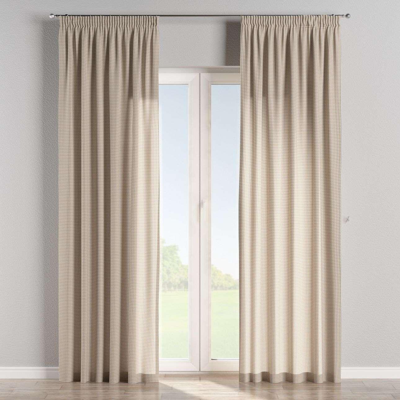Függöny ráncolóval 130 x 260 cm a kollekcióból Lakástextil Quadro, Dekoranyag: 136-05
