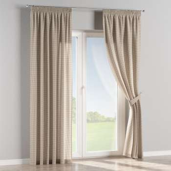 Pencil pleat curtains 130 x 260 cm (51 x 102 inch) in collection Quadro, fabric: 136-05
