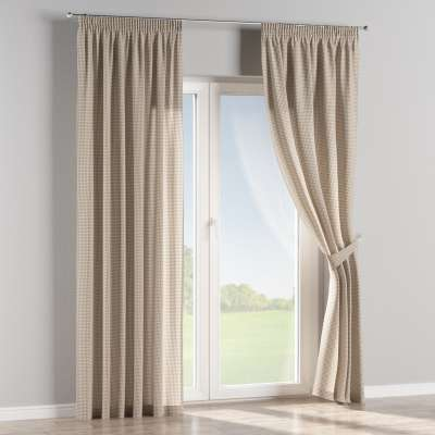 Pencil pleat curtains in collection Quadro, fabric: 136-05
