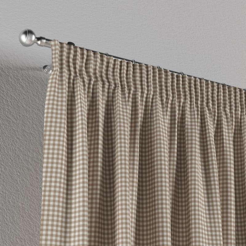 Vorhang mit Kräuselband von der Kollektion Quadro, Stoff: 136-05