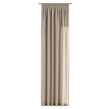 Zasłona na taśmie marszczącej 1 szt. 1szt 130x260 cm w kolekcji Quadro, tkanina: 136-05