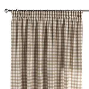 Vorhang mit Kräuselband 130 x 260 cm von der Kollektion Quadro, Stoff: 136-06