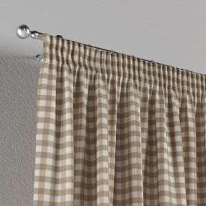 Vorhang mit Kräuselband 1 Stck. 130 x 260 cm von der Kollektion Quadro, Stoff: 136-06