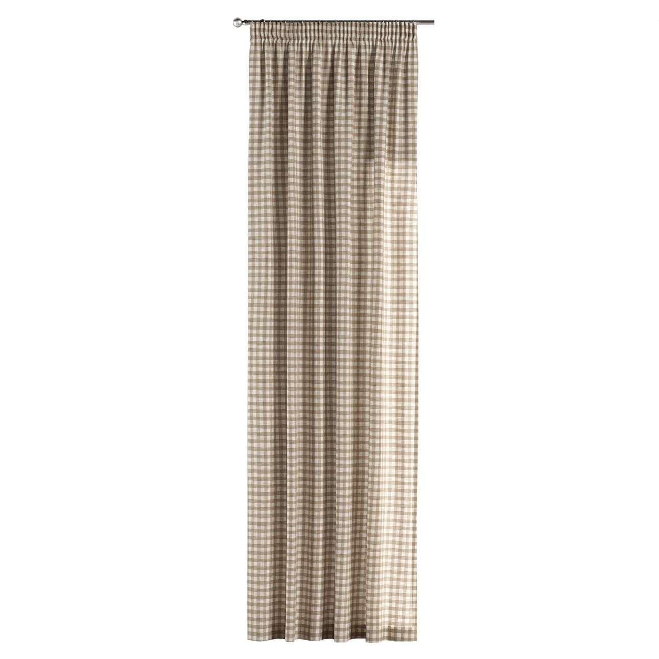Pieštukinio klostavimo užuolaidos 130 x 260 cm (plotis x ilgis) kolekcijoje Quadro, audinys: 136-06