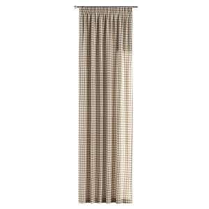 Zasłona na taśmie marszczącej 1 szt. 1szt 130x260 cm w kolekcji Quadro, tkanina: 136-06