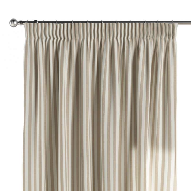 Pencil pleat curtain in collection Quadro, fabric: 136-07