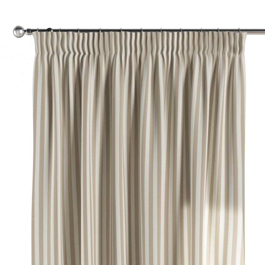 vorhang mit kr uselband hellbraun ecru 1 stck 130 x 260 cm dekoria. Black Bedroom Furniture Sets. Home Design Ideas