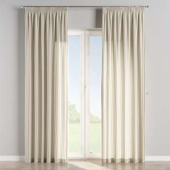 Pencil pleat curtains in collection Quadro, fabric: 136-07