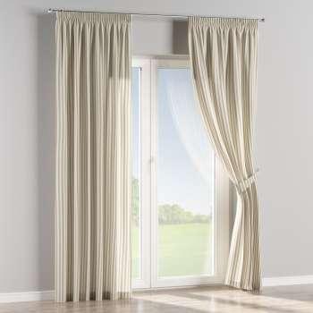 Függöny ráncolóval a kollekcióból Lakástextil Quadro, Dekoranyag: 136-07