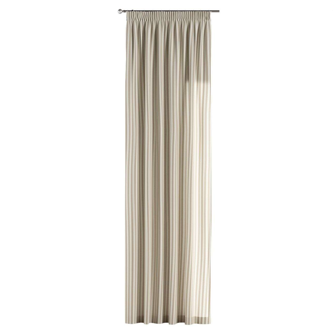 Vorhang mit Kräuselband 1 Stck. 130 x 260 cm von der Kollektion Quadro, Stoff: 136-07