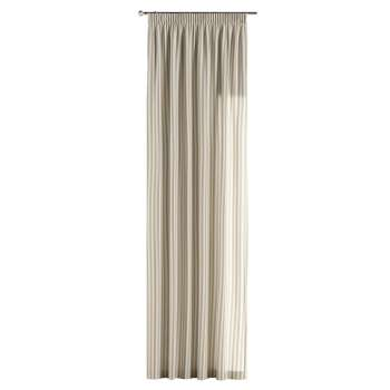 Zasłona na taśmie marszczącej 1 szt. 1szt 130x260 cm w kolekcji Quadro, tkanina: 136-07
