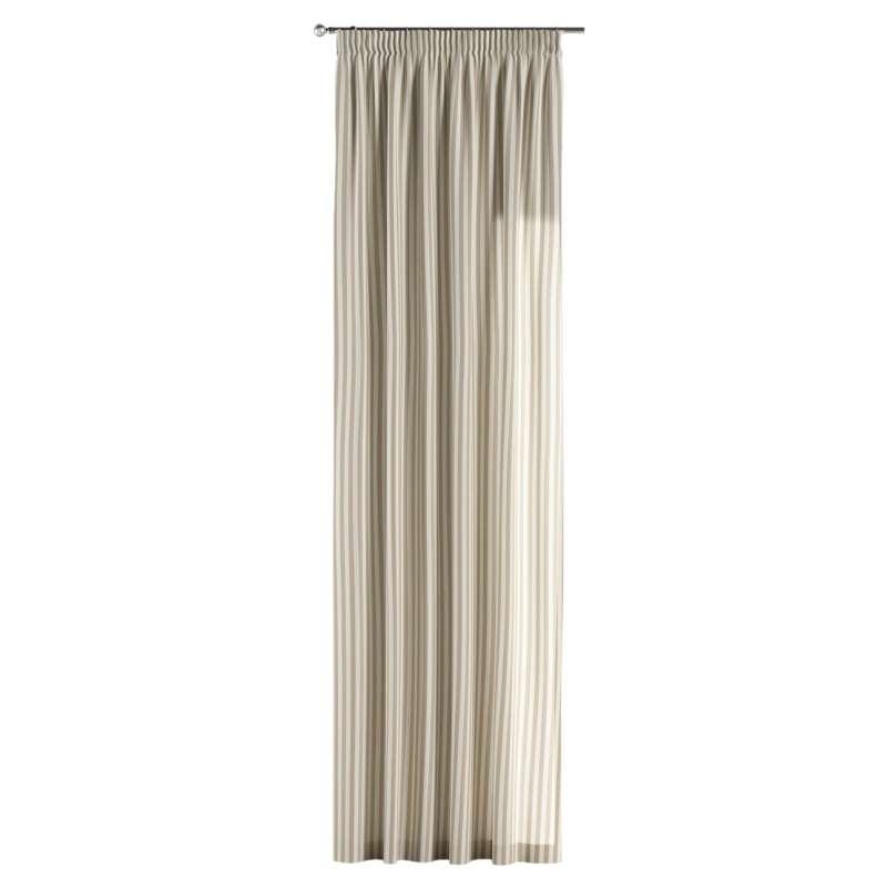Vorhang mit Kräuselband von der Kollektion Quadro, Stoff: 136-07