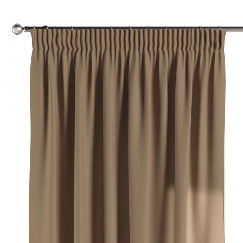 Pencil pleat curtain in collection Quadro, fabric: 136-09