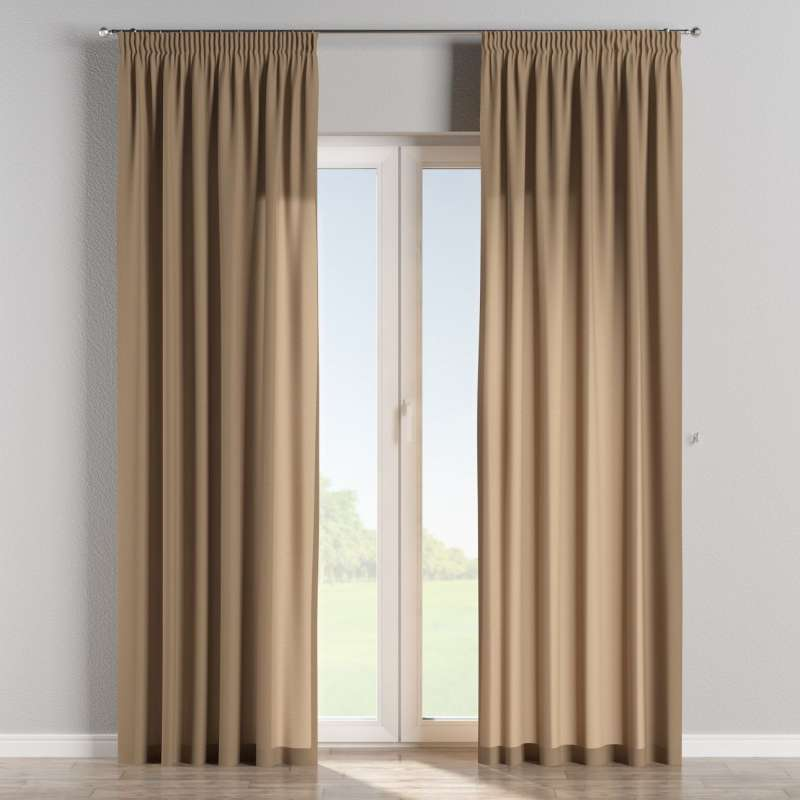 Pencil pleat curtains in collection Quadro, fabric: 136-09