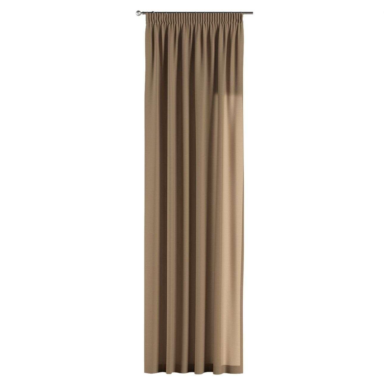 Vorhang mit Kräuselband von der Kollektion Quadro, Stoff: 136-09