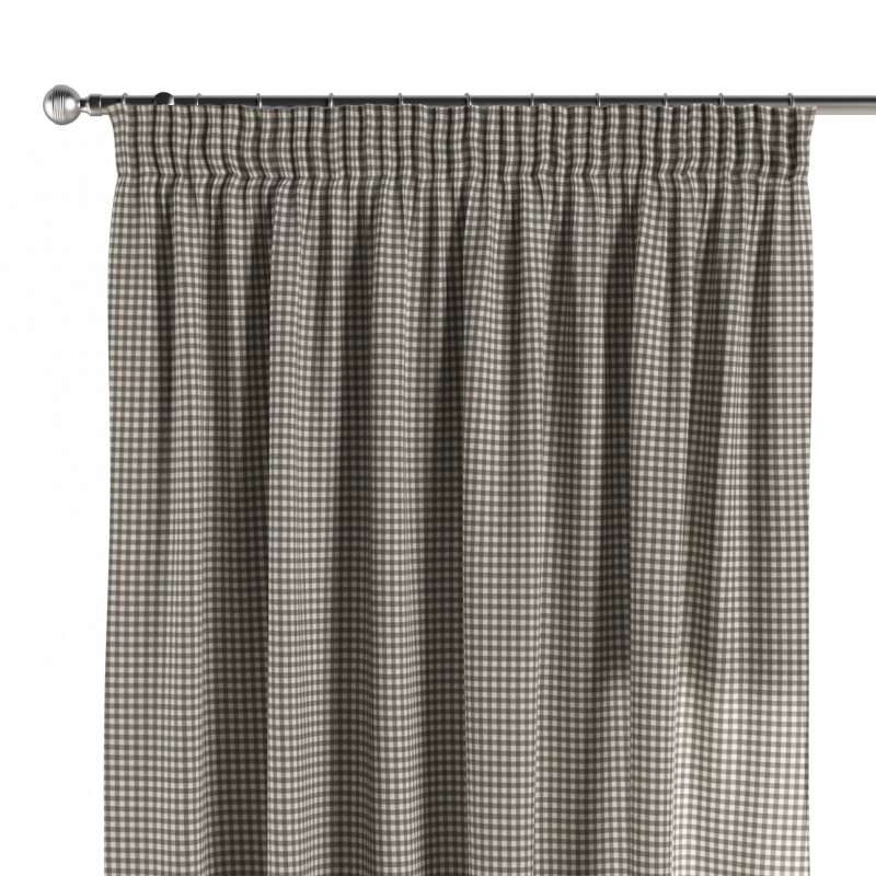 Pencil pleat curtain in collection Quadro, fabric: 136-10