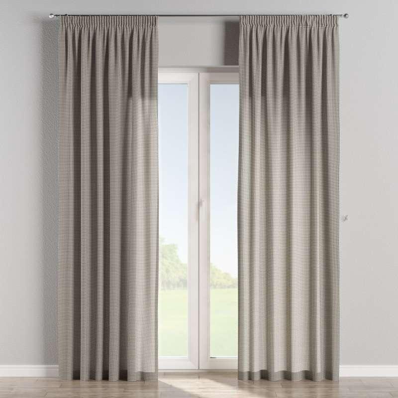 Vorhang mit Kräuselband von der Kollektion Quadro, Stoff: 136-10