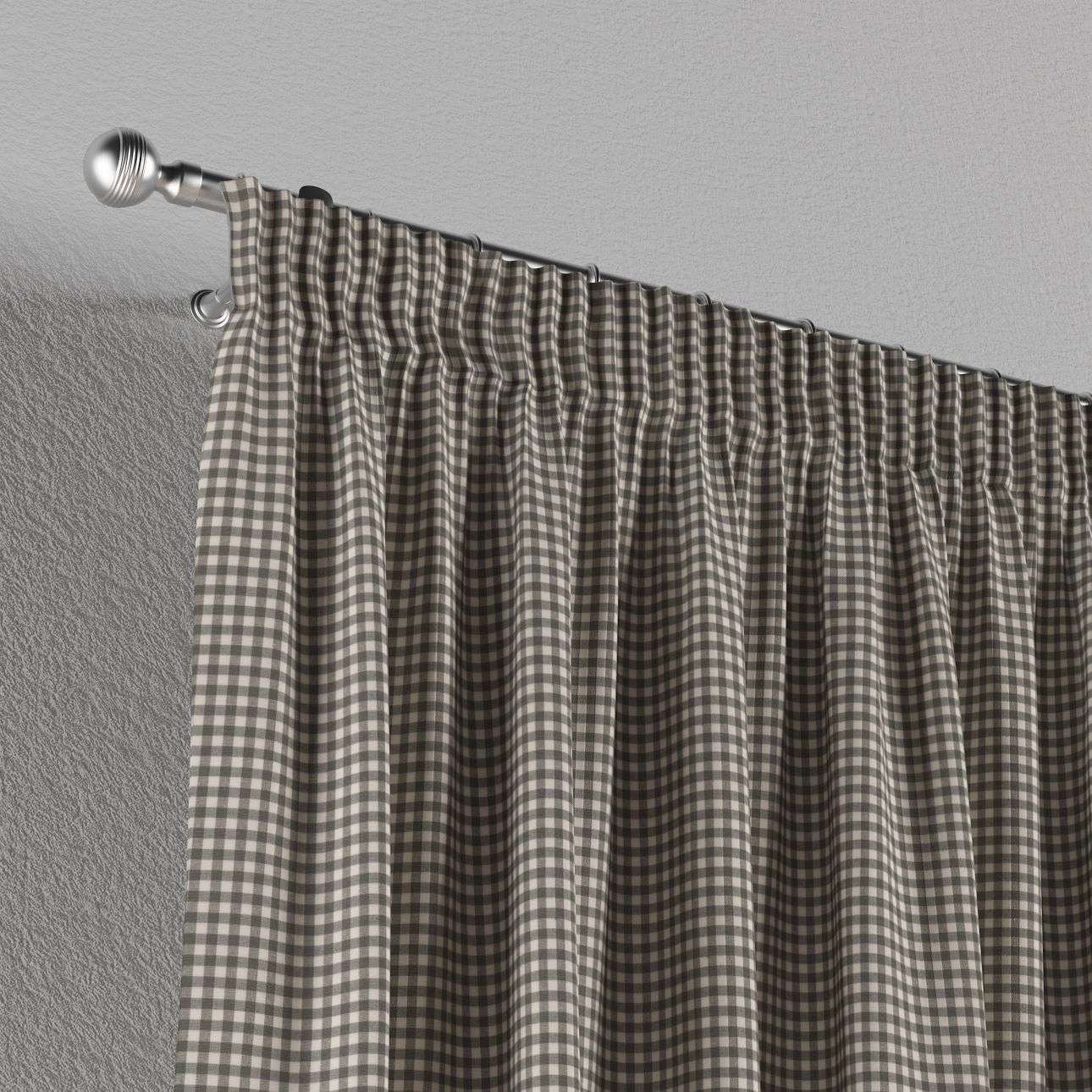 Pencil pleat curtains 130 x 260 cm (51 x 102 inch) in collection Quadro, fabric: 136-10