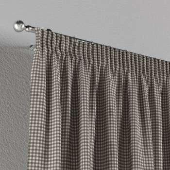 Vorhang mit Kräuselband 1 Stck. 130 x 260 cm von der Kollektion Quadro, Stoff: 136-10