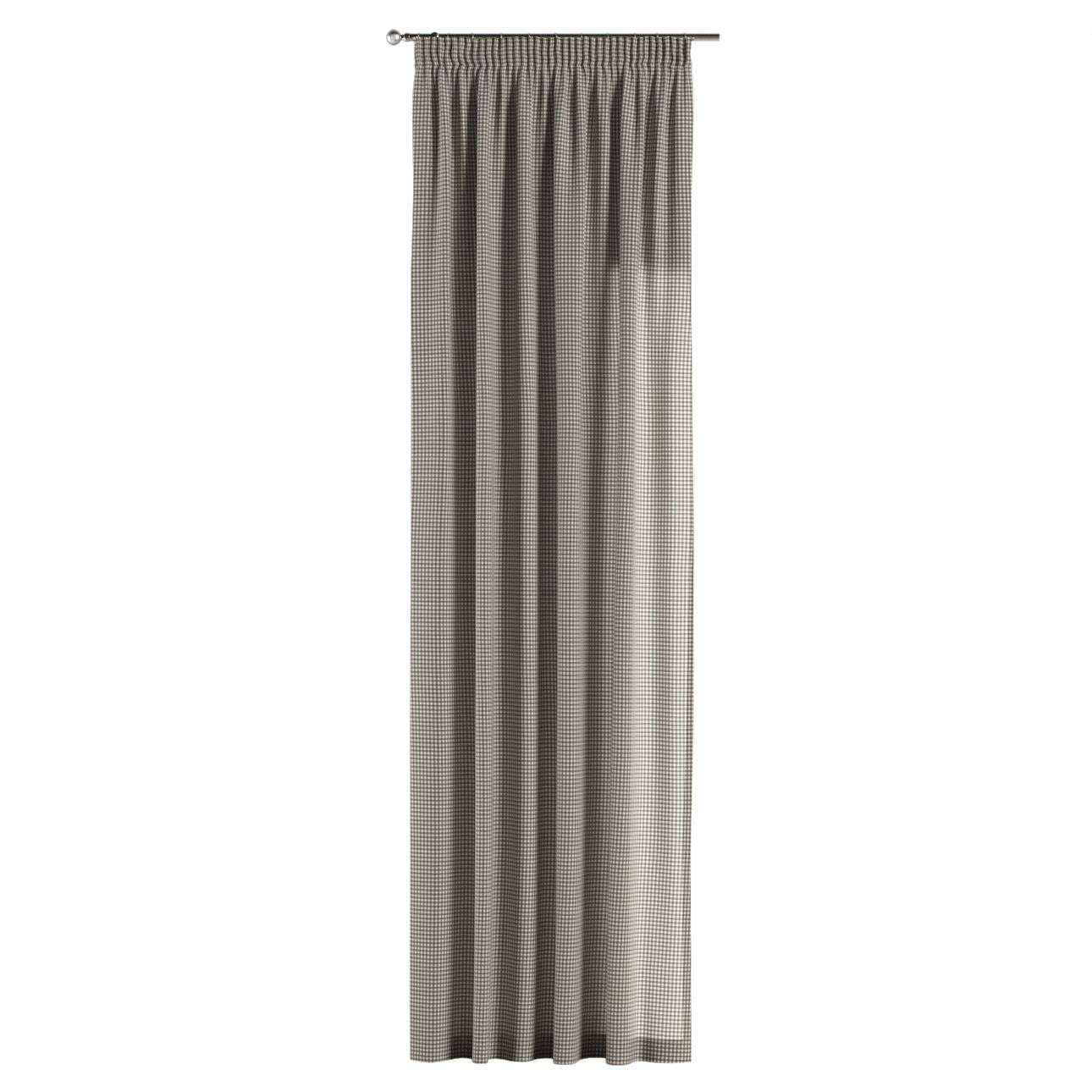 Pencil pleat curtains in collection Quadro, fabric: 136-10