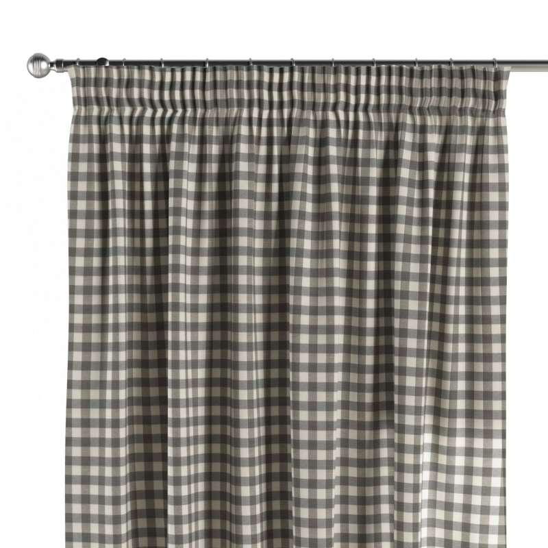 Vorhang mit Kräuselband von der Kollektion Quadro, Stoff: 136-11