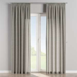 Pencil pleat curtains 130 x 260 cm (51 x 102 inch) in collection Quadro, fabric: 136-11