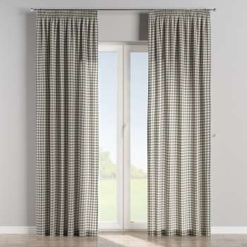 Pencil pleat curtains 130 × 260 cm (51 × 102 inch) in collection Quadro, fabric: 136-11