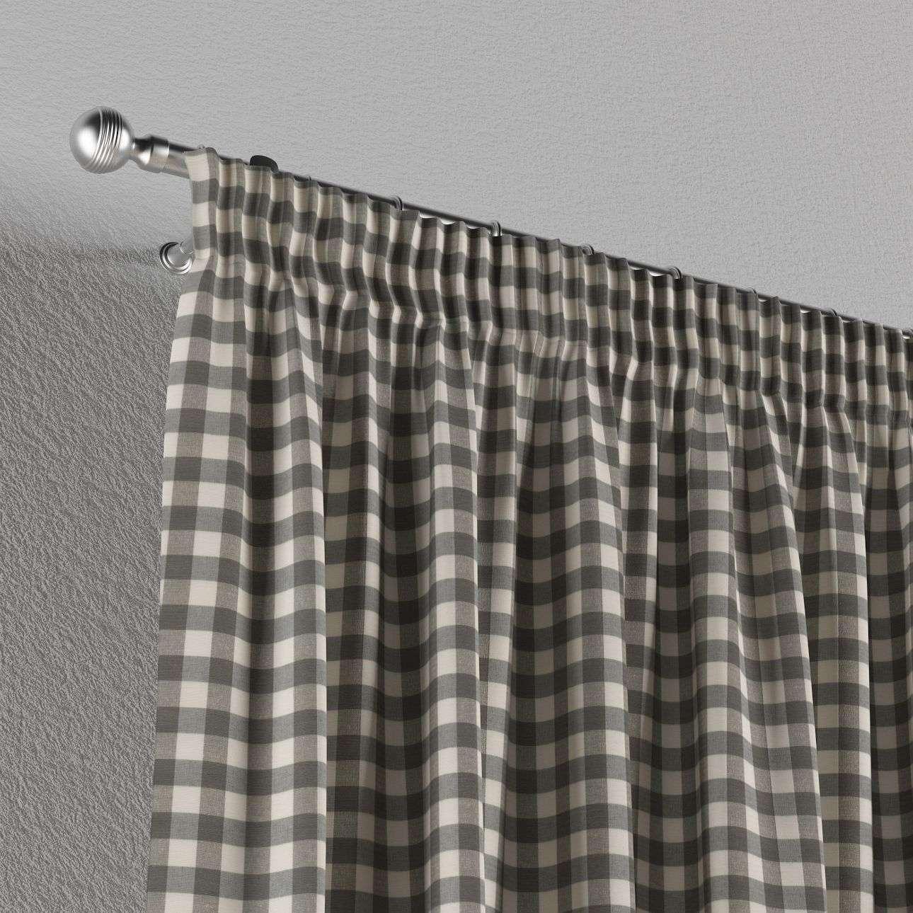 Vorhang mit Kräuselband 130 x 260 cm von der Kollektion Quadro, Stoff: 136-11