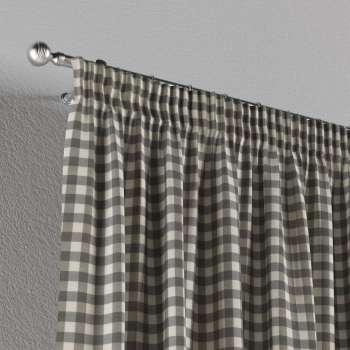 Függöny ráncolóval a kollekcióból Quadro Lakástextil, Dekoranyag: 136-11