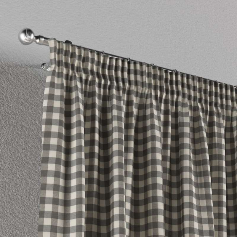 Pencil pleat curtain in collection Quadro, fabric: 136-11