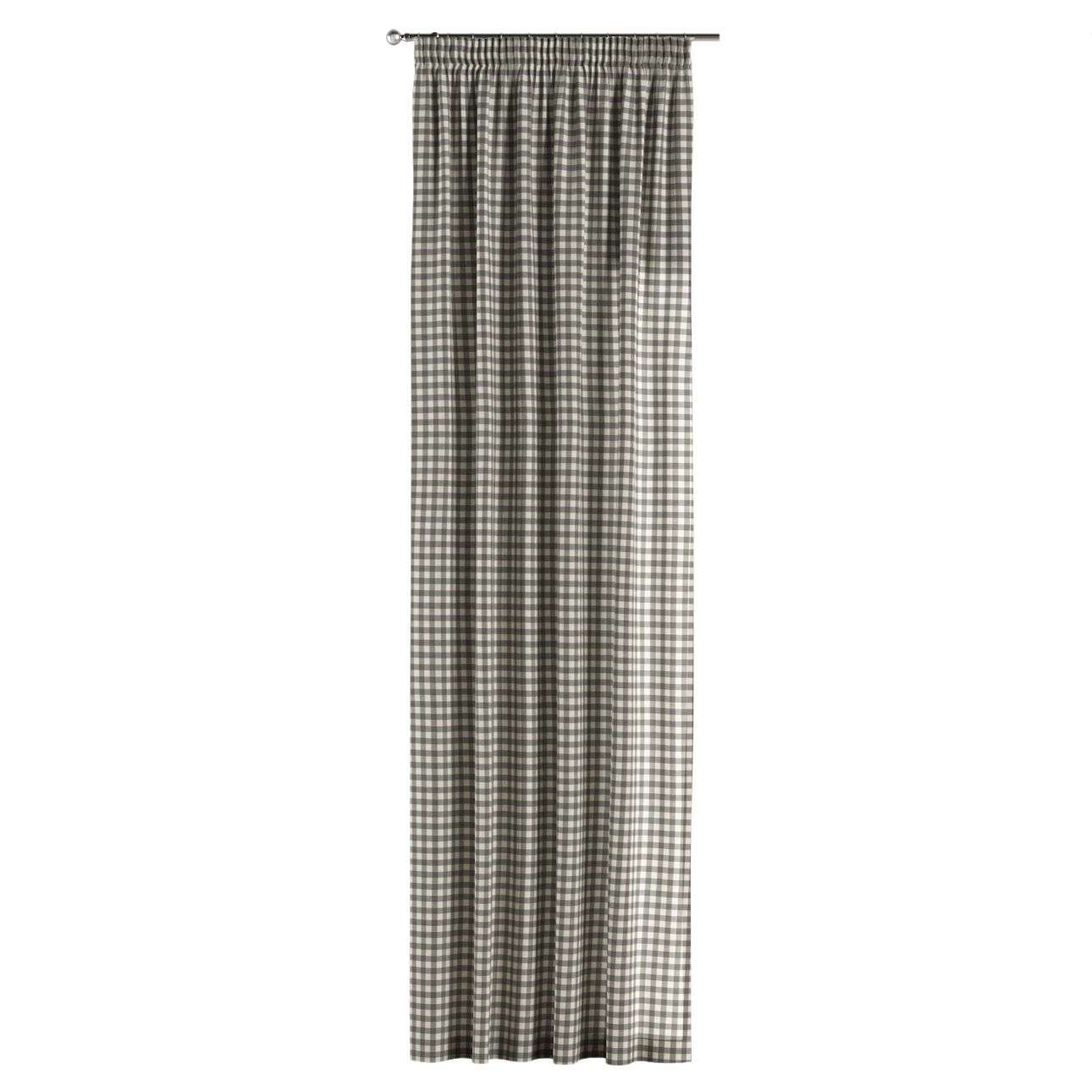 Gardin med rynkebånd 1 stk. 130 × 260 cm fra kolleksjonen Quadro, Stoffets bredde: 136-11