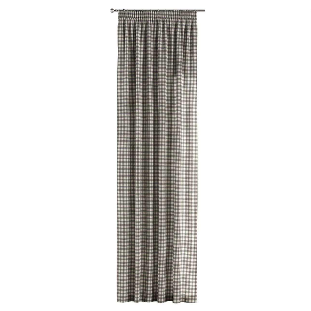 Zasłona na taśmie marszczącej 1 szt. 1szt 130x260 cm w kolekcji Quadro, tkanina: 136-11