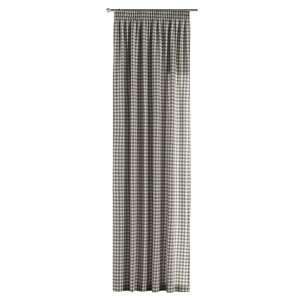 Gardin med rynkebånd 1 stk. 130 x 260 cm fra kolleksjonen Quadro, Stoffets bredde: 136-11