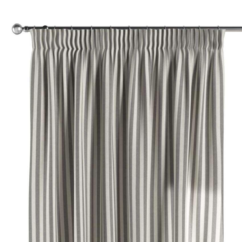 vorhang mit kr uselband grau ecru dekoria. Black Bedroom Furniture Sets. Home Design Ideas