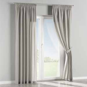Pencil pleat curtains 130 x 260 cm (51 x 102 inch) in collection Quadro, fabric: 136-12