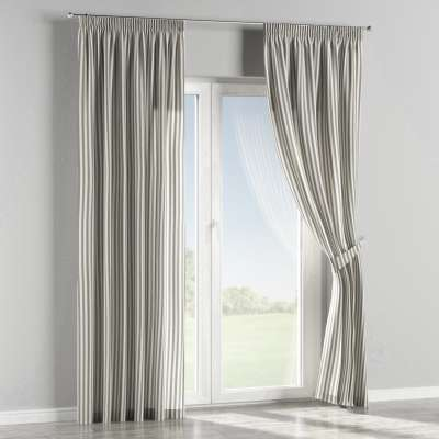 Pencil pleat curtains in collection Quadro, fabric: 136-12