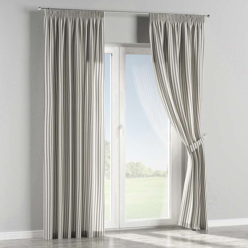 Függöny ráncolóval a kollekcióból Quadro Lakástextil, Dekoranyag: 136-12