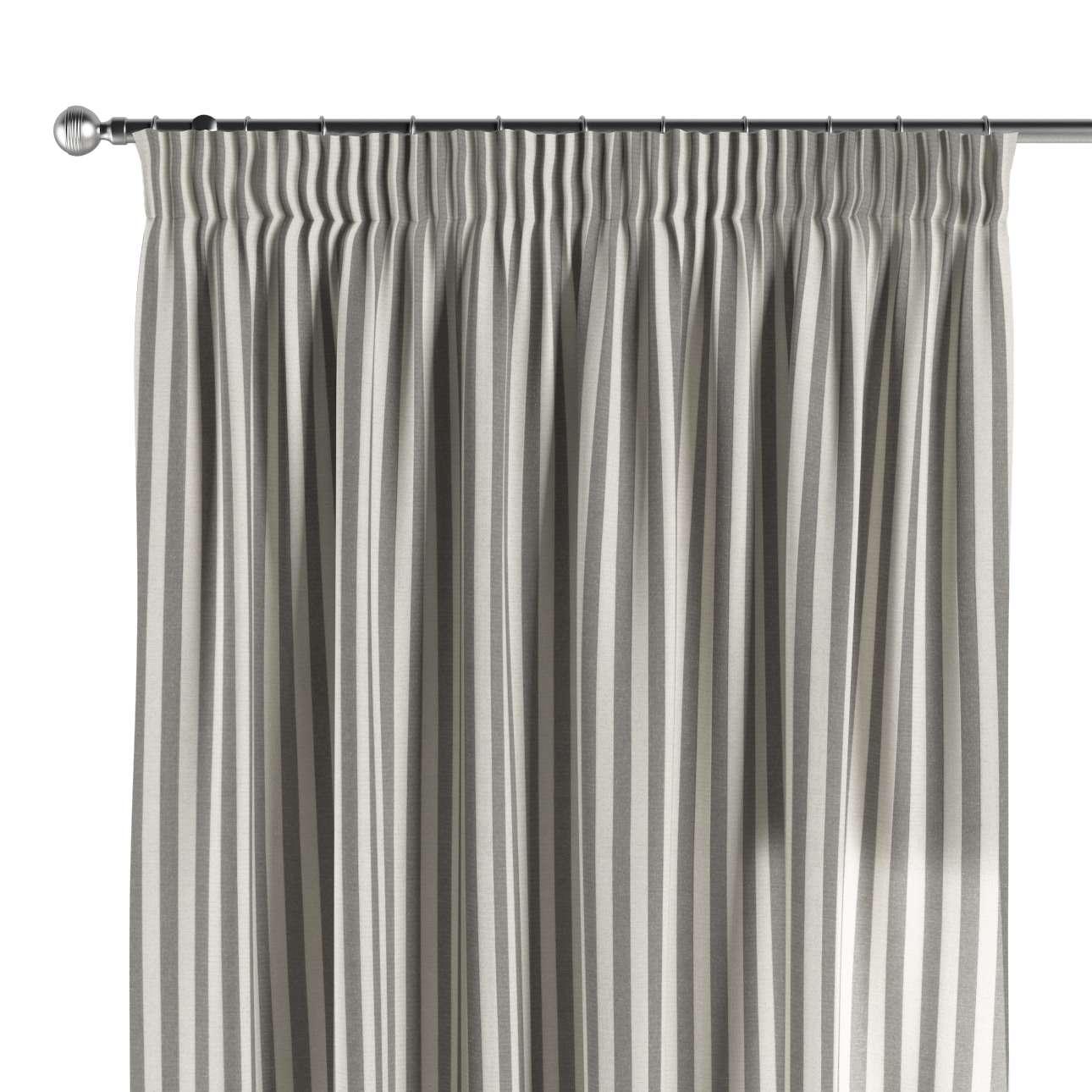 Gardin med rynkebånd 1 stk. 130 × 260 cm fra kolleksjonen Quadro, Stoffets bredde: 136-12