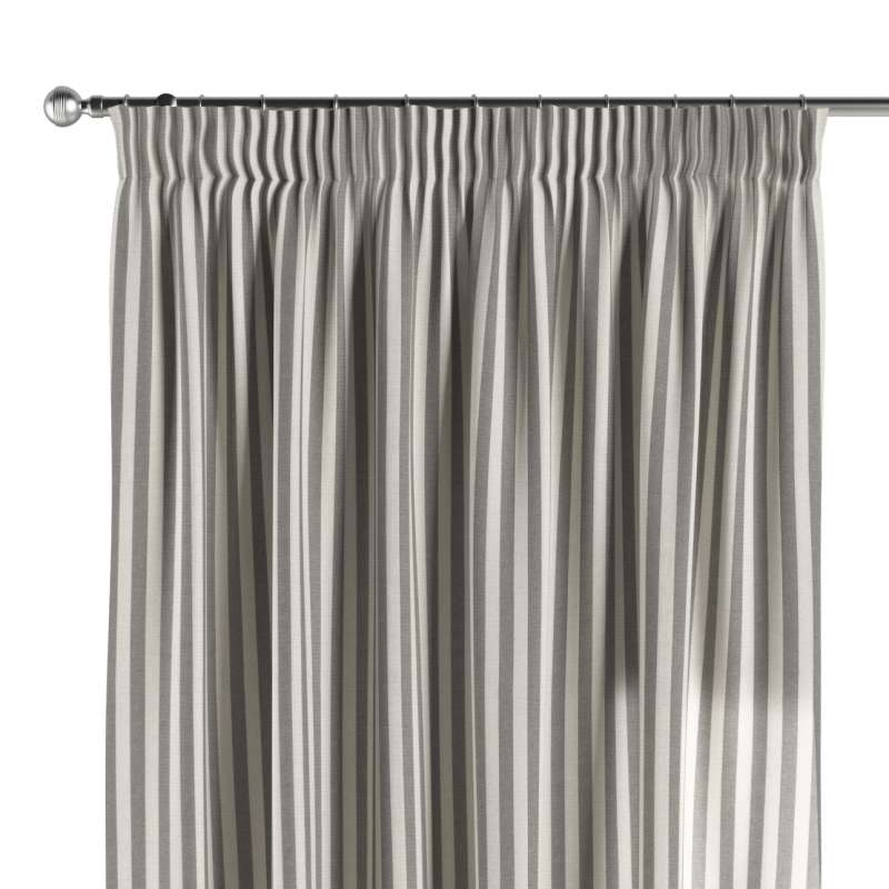 Pencil pleat curtain in collection Quadro, fabric: 136-12
