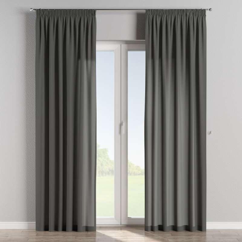 Pencil pleat curtain in collection Quadro, fabric: 136-14